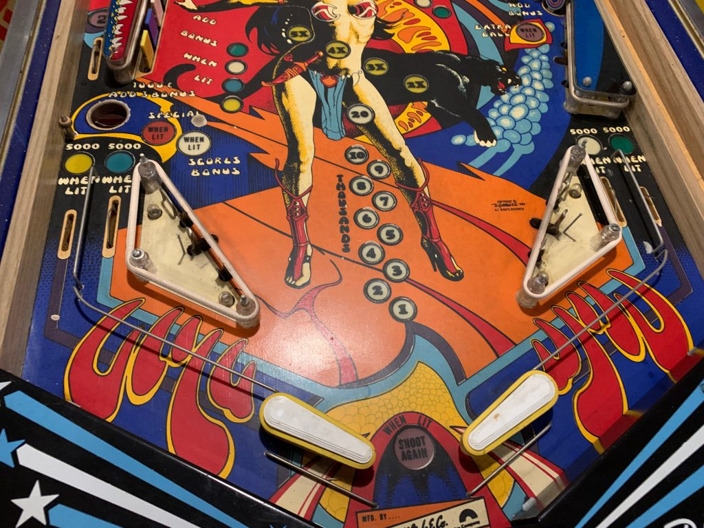 Panthera playfield start of removing plastics for cleaning