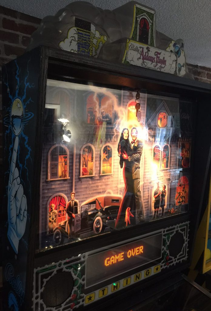 The Addams Family Backglass